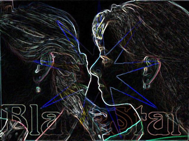 Blackstar Neon Collage